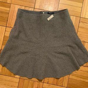 NWT Madewell gray wool flounce skirt